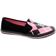 Misfits Fiend Argyle Slip on Black/Pink Shoe