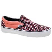 Classic Slip On Deep Sea Coral/Black Polka Dots Shoe 58570