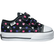 Big School Black/Hyacynth Polka Hearts Kids Shoe