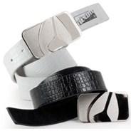 Badge Crocodile Leather Belt