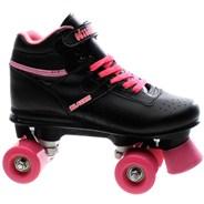 Odyssey Black/Pink Kids Quad Roller Skates