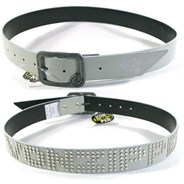 Ribbed PVC Belt - White