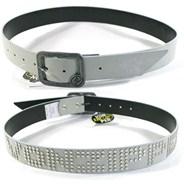Ribbed PVC Belt - White