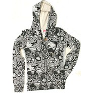 Bahia All Over Print Black Zip Hoody