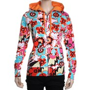 Bahia All Over Print Orange Peel Zip Hoody