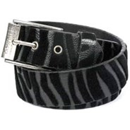 Cat Black/Black Fur Belt