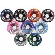 65mm Swirl Quad Roller Skate Wheels