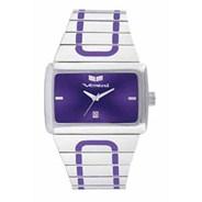 Elite Polished Silver/Silver/Purple Mens Watch ELT006