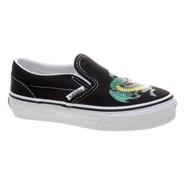 Classic Slip On (Dragon) Black/Jelly Bean Kids Shoe EYBVCE