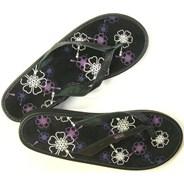 Santa Rosa Wedge Black/Grapeade Womens Sandals