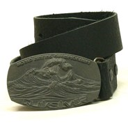 Sun In Your Face Leather Belt - Black