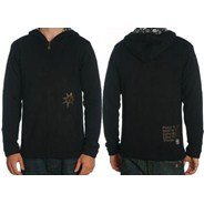 Peace Thing Reversible Sweater Zip Hoody