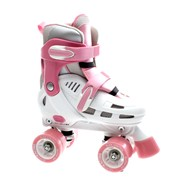 Storm White/Pink Quad Roller Skates