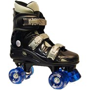 California Pro VT06 Kids Black Quad Roller Skates
