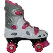 VT06 Kids White/Pink Quad Roller Skates