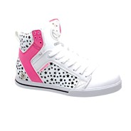 Natalie White/Black/Fuschia Shoe