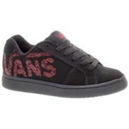 Widow (Bandana Vans) Black/Red Kids Shoe DE333Q