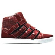 Strapped NS Burgundy Shoe