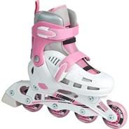 Cyclone White/Pink Kids Recreational Inline Skates