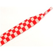 11403 Checker White/Red Thick Laces