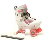 Orion White/Pink Quad Roller Skates/Ice Skates