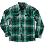 Powder Keg Kelly Green Flannel Long Sleeve Shirt