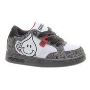 Willy Jr Grey/White/Red Kids Shoe