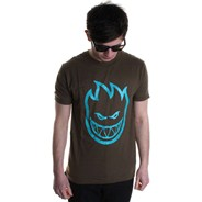 Bighead S/S T-Shirt - Army Green/Teal