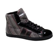 Nolan Black/Stripes Canvas Womens Shoe