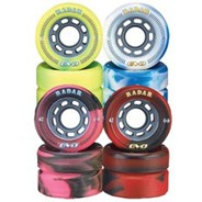 Evo 62mm Roller Derby Skate Wheels- White/Blue