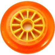 Low Profile Orange/Yellow Scooter Wheel