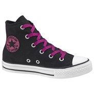 All Star Hi Speciality Black/Pink Glitter Kids Shoe 312666