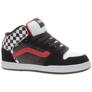 Skink Mid (Check) Black/White/Red Kids Shoe IPD0S7
