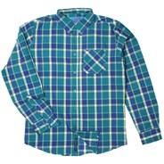 Hsu Ripley Teal L/S Woven Shirt