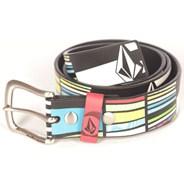 Mixed Bag White/Black Leather Belt