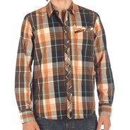 Tip Top Plaid Vintage Brown L/S Shirt