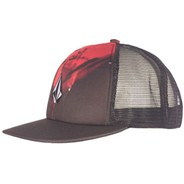 Printed Stone Red Cheese Hat