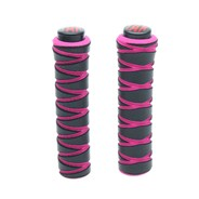 Black/Punk Pink Zig Zag Replacement Scooter Handlebar Grips