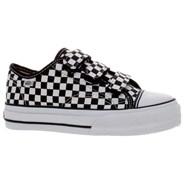 Big Skool Black/White Small Checkerboard Toddler Shoe DWOCK2