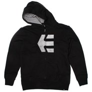 Icon Fill Black Youth Zip Hoody