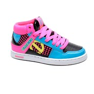 Zion KG Black/Fuschia/Turquoise Kids Shoe