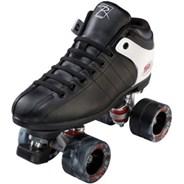 Dash Black/White Quad Roller Skates