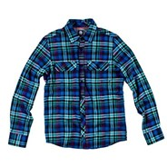 Adorn Long Sleeve Flannel Shirt - Purple Haze