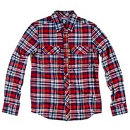 Adorn Long Sleeve Flannel Shirt - Element Red
