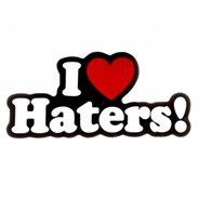 I Love Haters Buckle