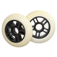 Pro Series Extreme Metal Core 100mm Scooter Wheel - White/Black - Discoloured
