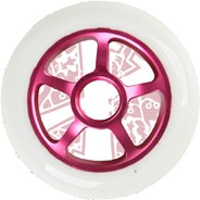 Pro Series Extreme Metal Core 100mm Scooter Wheel - Lilac/White