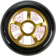 Pro Series Extreme Metal Core 100mm Scooter Wheel - Yellow/Black