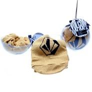 Party Ballz Sock Ornament - Gold