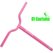 81-Pro Pink BMX One Piece Scooter Handlebars